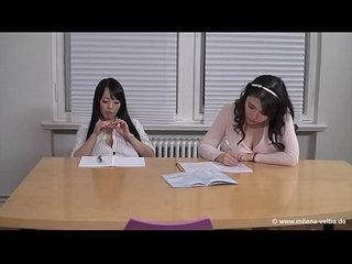 Milena Velba feat Hitomi Tanaka Okita Anri Lesbian BigTits