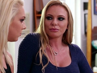 Blonde teenager and her lesbian Step Mom Tiffany Watson, Briana Banks