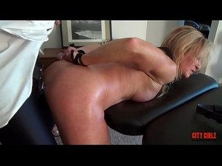 Watch her squirt when I pull my Dildo out of her ASS Sally Dangelo Mandy vixen