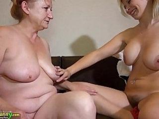 OldNanny granny mature masturbate with dildo